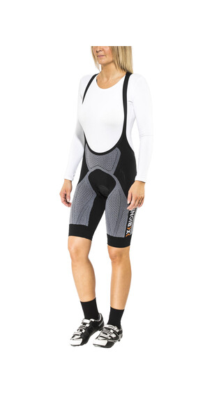 X-Bionic The Trick Biking Bib Tights Short Women Black/White